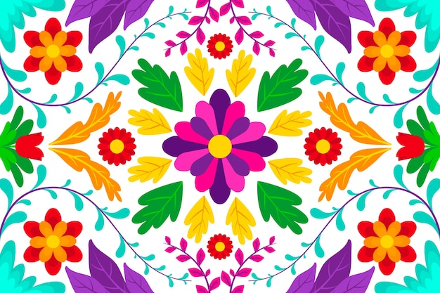 Fundo colorido com design mexicano