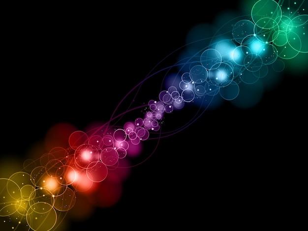 Fundo colorido com efeito de luz bokeh