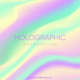 Fundo colorido com efeito holográfico