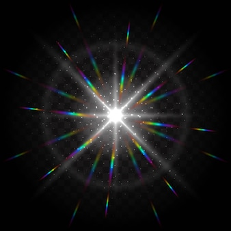 Fundo colorido com efeitos de luz