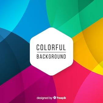 Fundo colorido com formas abstratas