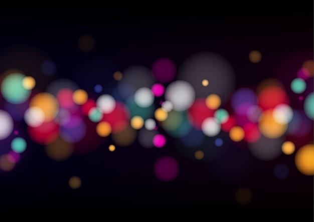 Fundo colorido com luzes desfocadas