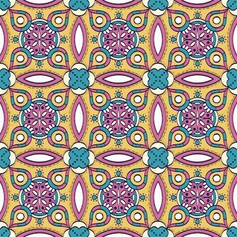 Fundo colorido com mandala