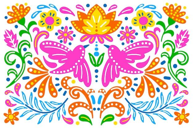 Fundo colorido com mexicano