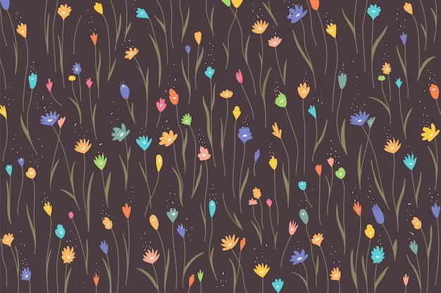 Fundo colorido com padrão floral