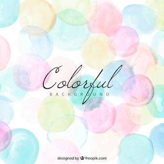 Fundo colorido com pontos em aquarela