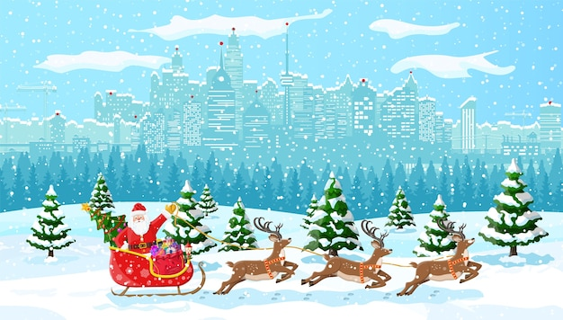 Fundo colorido com tema natalino
