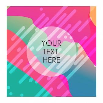Fundo colorido com tipografia vector design