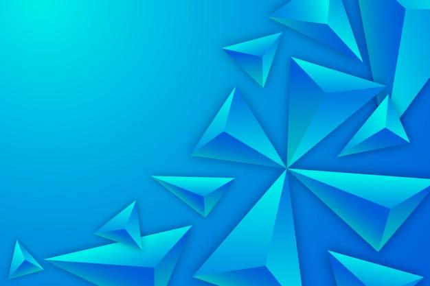 Fundo colorido com triângulos 3d