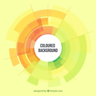 Fundo colorido com um círculo