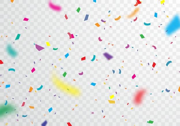 Fundo colorido confete para celebrações festivas