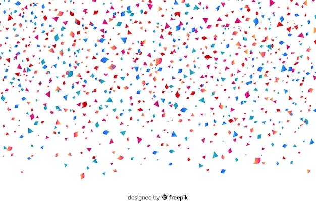 Fundo colorido confete realista