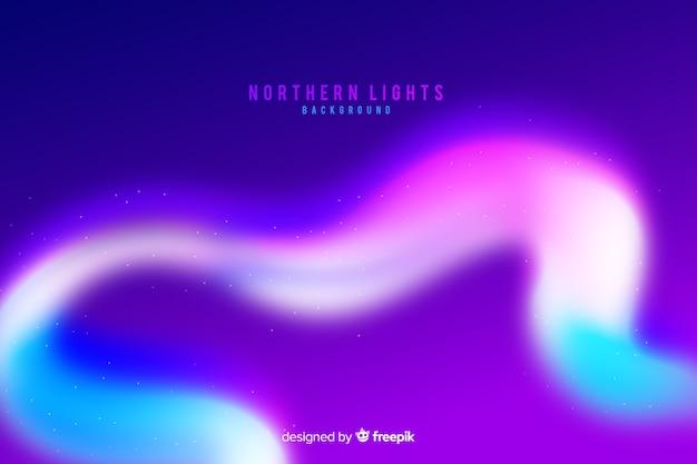 Fundo colorido da aurora boreal