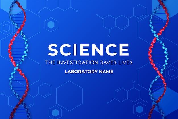Fundo colorido da ciência com dna