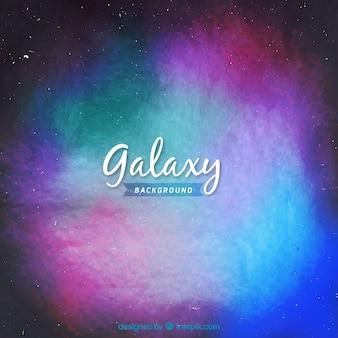 Fundo colorido da galáxia da aguarela
