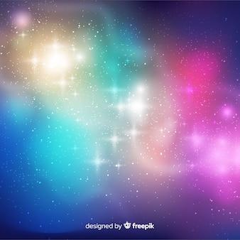 Fundo colorido da galáxia