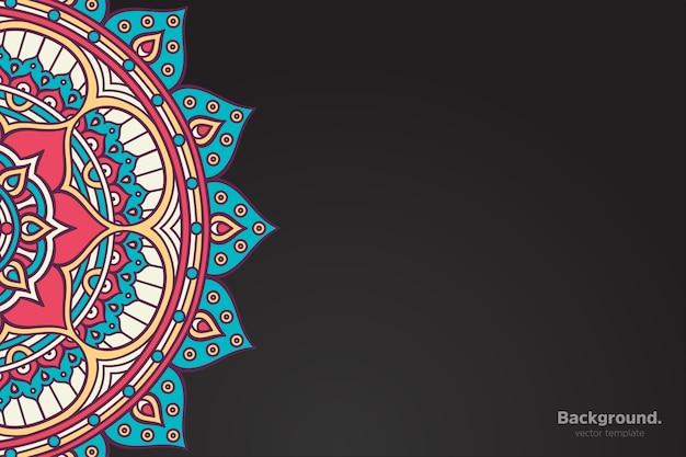 Fundo colorido da mandala oriental