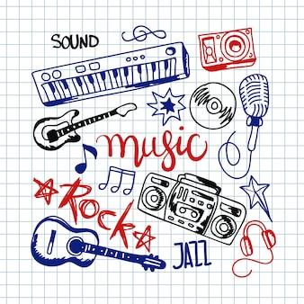 Fundo colorido da música.