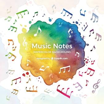 Fundo colorido da música