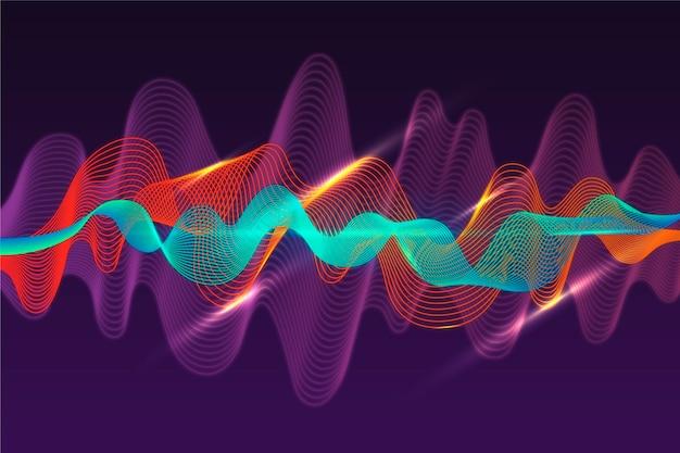 Fundo colorido da onda do equalizador eq