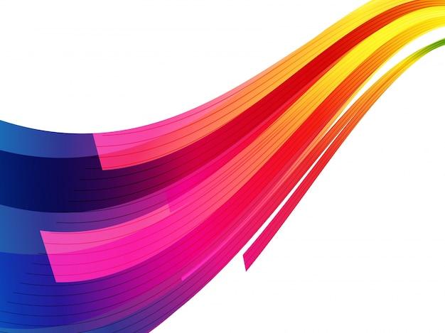 Fundo colorido da onda geométrica.