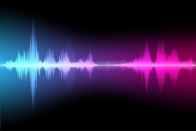 Fundo colorido da onda sonora abstrata.