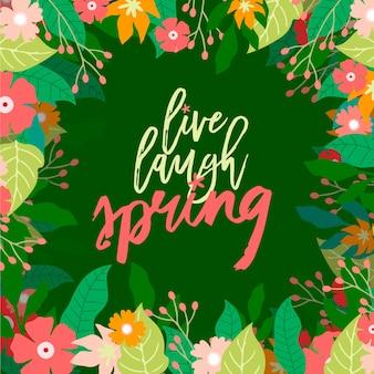 Fundo colorido da primavera