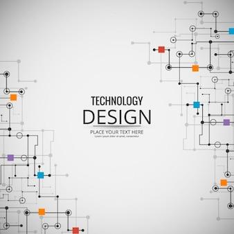 Fundo colorido da tecnologia