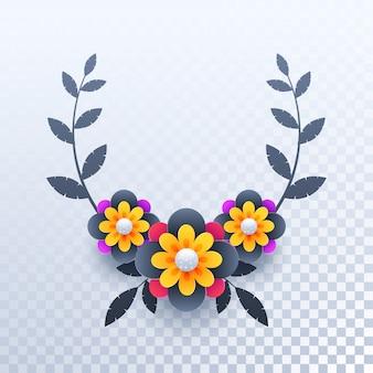 Fundo colorido das flores de corte do papel.