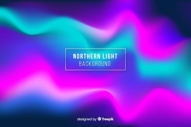 Fundo colorido das luzes do norte