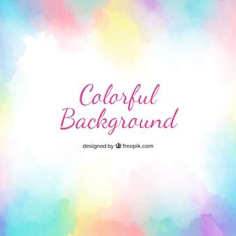 Fundo colorido de aquarela com estilo abstrato