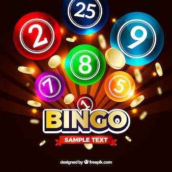 Fundo colorido de bolas de bingo