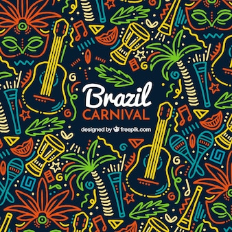Fundo colorido de carnaval criativo