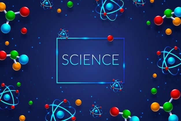 Fundo colorido de ciência realista