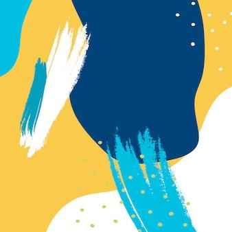 Fundo colorido de design de memphis
