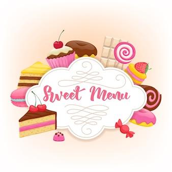 Fundo colorido de doces sortidos