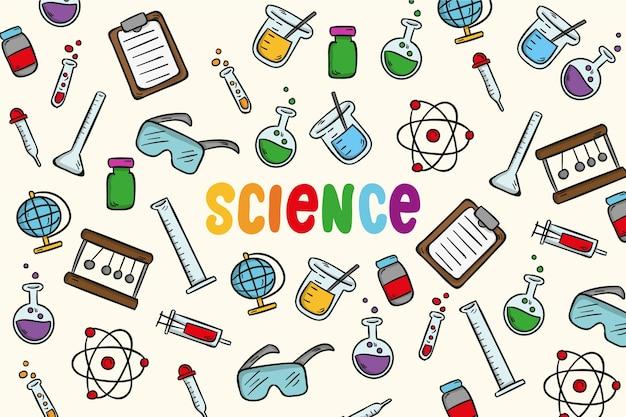 Fundo colorido de educação científica