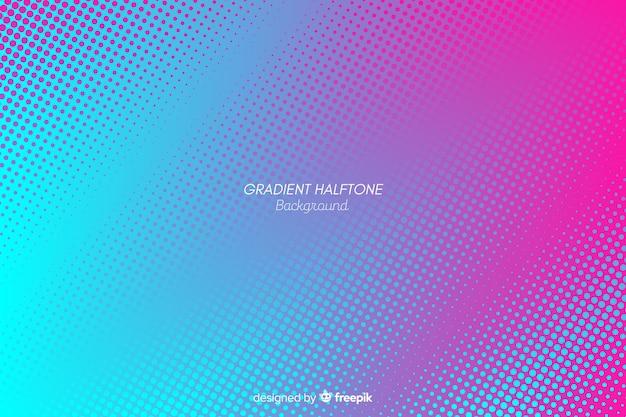 Fundo colorido de efeito de meio-tom gradiente