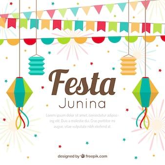 Fundo colorido de festa junina