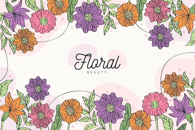 Fundo colorido de flores desabrochando