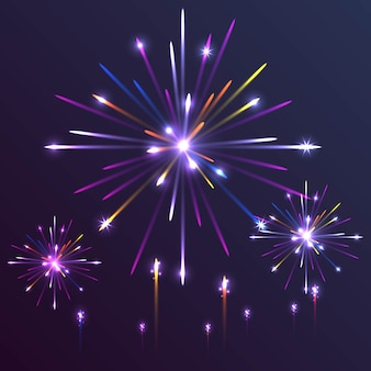 Fundo colorido de fogos de artifício