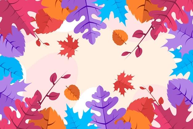 Fundo colorido de folhas de outono