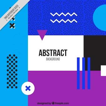 Fundo colorido de formas abstratas