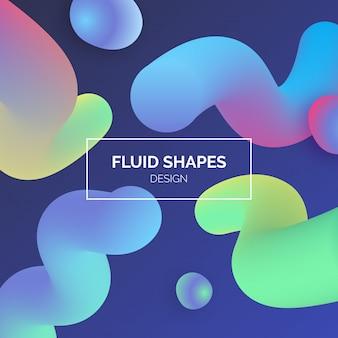 Fundo colorido de formas fluidas