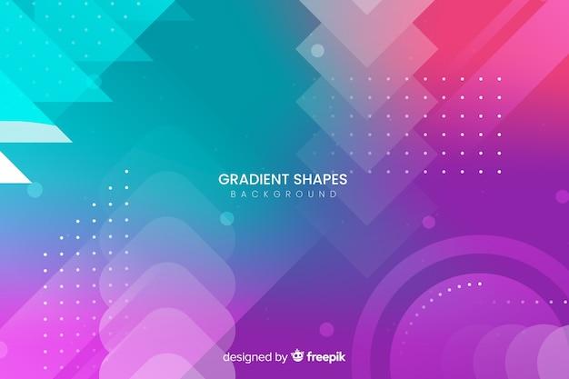 Fundo colorido de formas gradientes