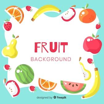 Fundo colorido de frutas