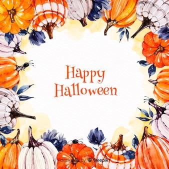 Fundo colorido de halloween em aquarela