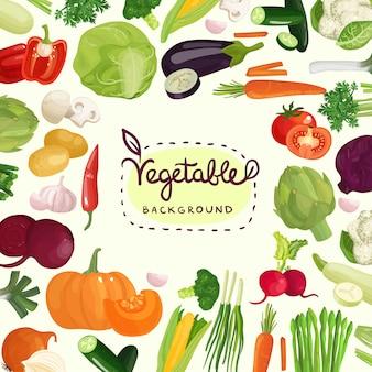Fundo colorido de legumes