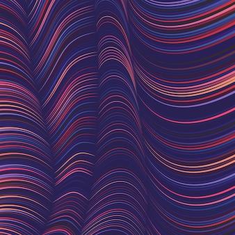 Fundo colorido de linhas onduladas