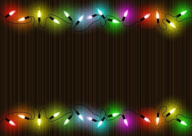 Fundo colorido de luzes de natal